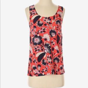 Patterned twist back tank top blouse